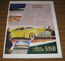 1939 Vintage Ad for 1940 Nash Cars Hunters Admire Yellow Nash Automobile
