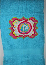 Personalized Embroidered Sassy Monogram Applique Bath Towel Monogrammed Initial