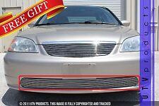 GTG 2001 - 2002 Honda Civic 4dr 1PC Polished Overlay Bumper Billet Grille Grill