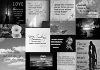 Famous Black White Love Quotes Canvas Wall Art  Picture 100% cotton - ALL sizes