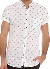 St Goliath Mens Flight S/S Shirt 100% Cotton White/Navy