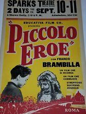 PICCOLO EROE SAN FRANCISCO THEATRE POSTER ROMA MUSICAL BROADWAY AD FILM CINEMA