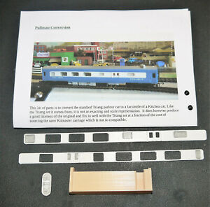 Triang Blue Pullman Palour Car to Kitchen Car conversion set 3D printed