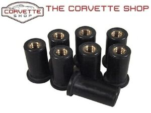 C3 Corvette 8 Piece Luggage Rack Blind Well Nuts Mounting Hardware 1968-77 K1506