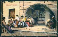 Genova Santa Margherita Ligure Tombolo Pizzo Ricamo cartolina QK9387