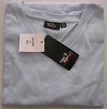 2 pièces-Hommes Chemise manches longues-shirt-Col en v-taille 52/54 - Couleur: bleu clair-NEUF