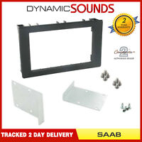 CT24SA10 Black Double Din Fascia Plate Panel Adaptor Trim For Saab 9-3 2006-2014