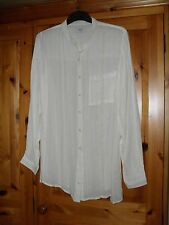 Ladies Long Sleeved Blouse/Shirt  size 14 BNWT Cream/Natural with Gold Stripes