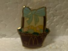 McDonald's Easter Basket with Eggs and Blue Bow Collectible Pin pin3512