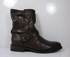Frye Jayden Cross Engineer Womens Short Boot Dark Brown size 9 B
