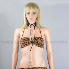 Lady Leather Slave Collar Neck Harness Fetish Collar Necklace Roleply Toys Black