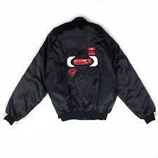 Dodge Viper Vintage Usa Made Black Embroidered Satin Jacket Size L