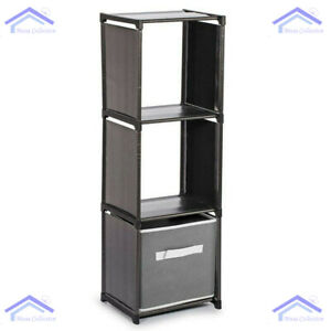 New 3 Tier Storage Compartment Home Plastic Organiser With Shelving Quality Unit