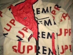 Supreme Reversible Fleece Jacket X-Large Mid-weight