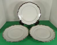 Schwarzenbach Winterling White Heavy PLATINUM Trim Dinner Plate (s) LOT OF 3