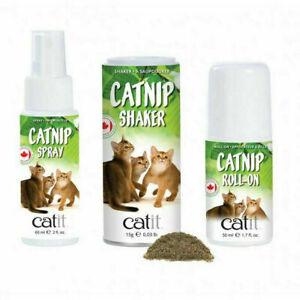 Catit Senses 2.0 Cat / Kitten Catnip Spray Shaker Roll-On Excitement Toys Posts