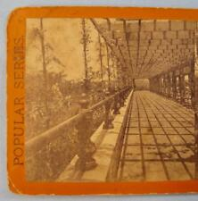 Stereoview E & H T Anthony Popular Series Vine Clad Walk Central Park New York O