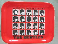 """THE BEATLES A HARD DAYS NIGHT MELAMINE SERVING TRAY  13 """" X 10.5 """" NEW"""
