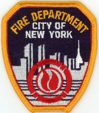 New York Fire Department FDNY hat patch NEW   Size: 2.9 x 2.4 inches