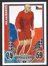 #18 TOPPS - MATCH ATTAX CARD GAME  - ENGLAND 2012 - MILAN BAROS - CZECH REPUBLIC