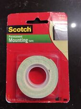 "Scotch Permanent Mounting Tape, 1/2 Inch x 40 Inches White .5"" x 40"""