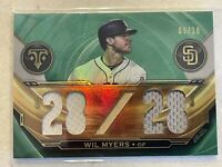 2019 Topps Triple Threads Relics WIL MYERS 2 Color Jersey & Bat # 9/18 - PADRES
