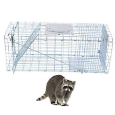 Iron Metal Raccoon Skunk Poss Humane Pet Animal Trap Cage Rabbit Cat Live Trap