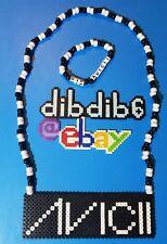 Avicii kandi perler necklace, rave PLUR EDC art custom