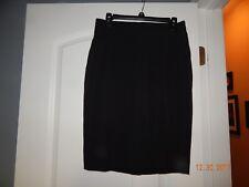 EUC Ladies Old Navy Black Knee Length Pencil Straight  Dress Skirt Size 4