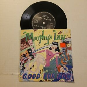 """MURPHY'S LAW GOOD FOR NOW 7"""" NYHC WARZONE MADBALL AGNOSTIC FRONT SICK OF IT ALL"""