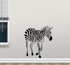Zebra Wall Decal Wild Animal Nursery Vinyl Sticker Africa Decor Art Mural 48hor