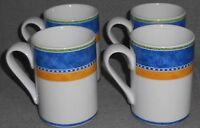 Set (4) Dansk Bistro KOBENHAVN PATTERN Handled Mugs