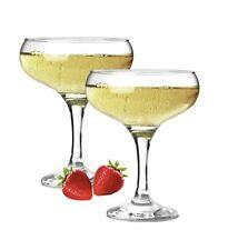 NUOVO Set di 2 Apri champagne PIATTINI 240ml chiaro Champagne Bicchieri 8,75 once