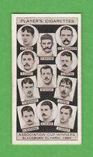 FOOTBALL - PLAYERS - ASSOCIATION CUP WINNERS CARD - BLACKBURN  1883  -  1930