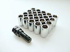 JDM Inbus Stahl Lug Nuts M12 x 1.25 Radmuttern CHROM 20 Stück