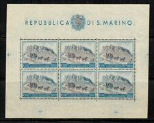 San Marino #304 Sheet of 6 1949 MNH