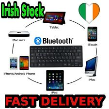 Super Slim BLACK BLUETOOTH Wireless Keyboard for Android iOS Windows iPad 7 8 9