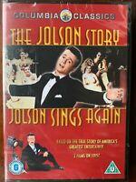Jolson Story + Sings di Nuovo DVD Musical Film Classico Doppio Bill Al