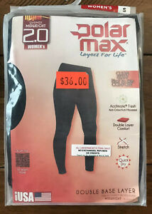 Polarmax Base Layer Basics Women/'s Pants MEDIUM 8-10