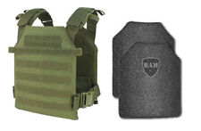 Body Armor | Bullet Proof Vest | AR500 Steel Plates | Base Frag Coating- CDR OD