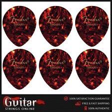 "6 X Fender Medium 347 Large Teardrop Shape Classic Celluloid Picks ""new"""