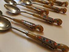 Haddad Jezzine Cutlery - Sterling Silver Tea Spoons -1940-50s - Golden Phoenix