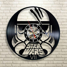 Star Wars Wall Clock Modern Design Vinyl CD Hanging Clock Wall Unique Watch