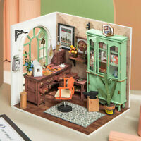 Robotime Wooden Studio Miniature Dollhouse with Led Handcrafted Toy for Adults
