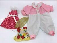 Lot Of Vintage Doll Clothing Clothes Sleeper Dresses Medium Large Dolls