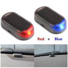 (Red+Blue) Car Alarm LED Security System Warning Anti-Theft Flash Blinking Lamp