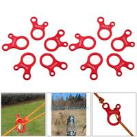 10pcs 3 Hole Quick Knot Tent Wind Rope Buckle Antislip Tightening Hook Camping