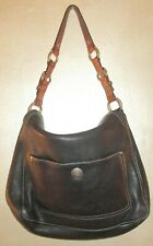Coach Black Leather Satchel with Brown Harness Handle