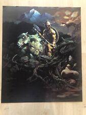FRANK FRAZETTA Stranded FANTASY Litho PRINT 16 X 21 Vintage Prints #46