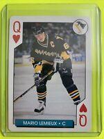 1995-96 Bicycle Sports NHL Hockey Aces Mario Lemieux Pittsburgh Penguins